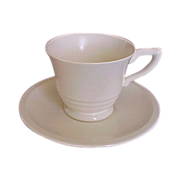 Satin Cr�me Yellow GMcB Franciscan Coffee Cup & Saucer Pottery
