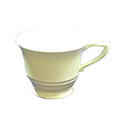 Satin Cr�me Yellow GMcB Franciscan Coffee Footed Cup Pottery