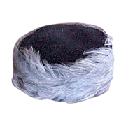 Blue Pill Box Feather & Net Hat 1960s