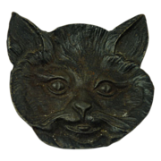 Black Cast Iron Bob Cat Ashtray