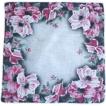 Beautiful Smokey Red & White Flower Handkerchief