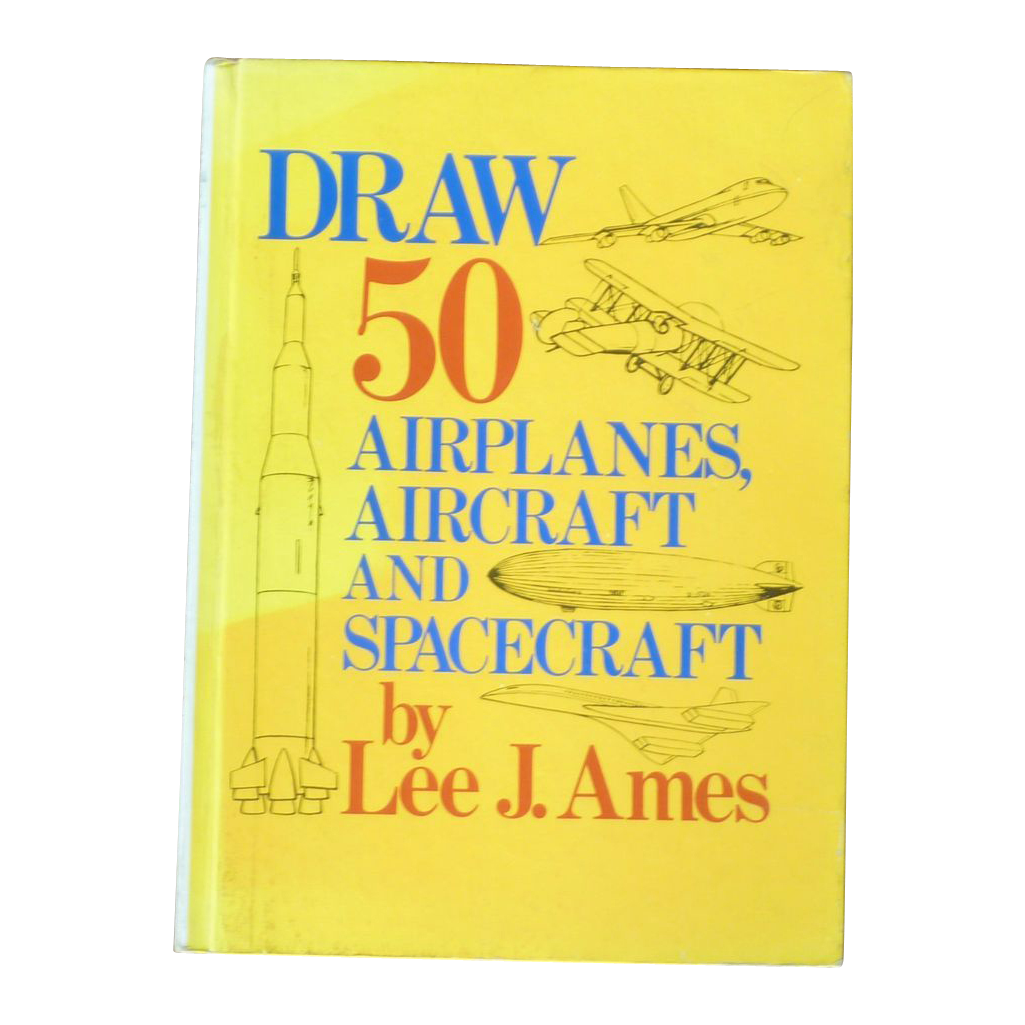 Draw 50 Airplanes Aircraft and Spacecraft Art Book Signed Autographed