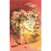Valentine Cupid Boy Post Card 1911