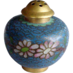 Blue Cloisonne Brass Enamel Miniature Shaker