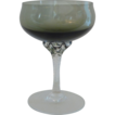 Coronation Smoke Sasaki Crystal Champagne/ Sherbet Glass