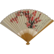 China Airlines Folding Hand Fan Circa 1980s  Pink Cherry Blossoms
