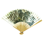 China Airlines Folding Hand Fan Circa 1980�s � Mountains & Hills