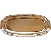 Silver Plate Oval Sandwich Tray Platter Jean Couzon France