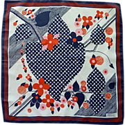 Red, White and Blue 1960�s Antoine Hugot Paris Scarf