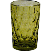 Fenton Green Thumbprint Juice Glass