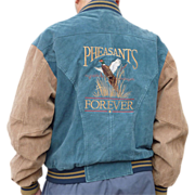 Pheasants Forever Suede Leather Vintage Jacket