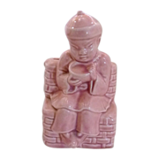 Pink Asian China Boy Ceramic Planter