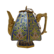 Miniature Cobalt Blue Cloisonn� Teapot / Coffeepot with Top
