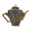 Miniature Blue with Love Birds Cloisonn� Teapot / Coffeepot with Top