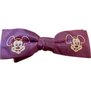 Vintage Child�s  1950�s Purple Mickey Mouse Bowtie