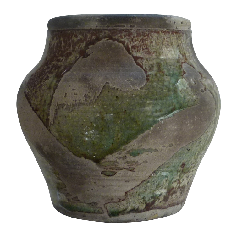 Matte Finish Earthen Colored Pottery Jar Vase