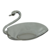 Medium Duncan Miller Crystal Clear Swan Dish