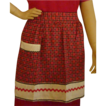 Red Black and White Rick Rack 1950�s Cotton Apron