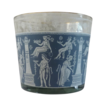 Jeannette Delft Blue Glass Ice Bucket