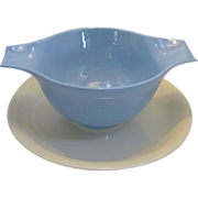 Homer Laughlin Skytone Plain 1950�s Under plate Gravy / Sauce Bowl