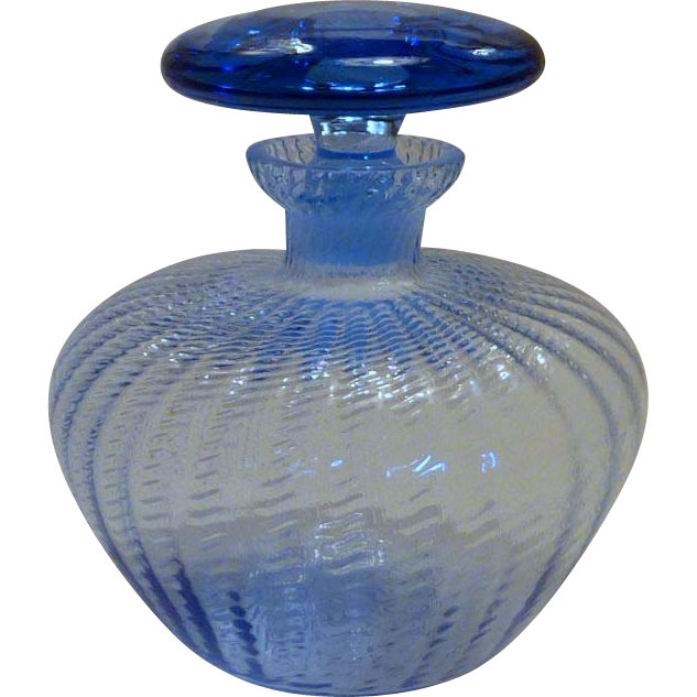 Vintage Blue Vanity Perfume Bottle