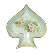 Spade Shape Limoges  La Seynie China Trinket Dish
