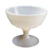 Hazel Atlas White Milk Glass Moderntone Stemmed  Sherbet