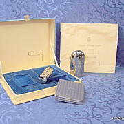 SOLD Rare vintage Coty Lorigan compact, perfume lipstick in presentation box