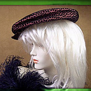 Vintage 1940's French Paris oversize newsboy design hat Chocolate dream
