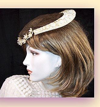 Vintage 1920's 1940's Wedding veil head piece custom made