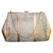 Vintage 1960's Luxury golden Brocade Rhinestone clasp purse handbag
