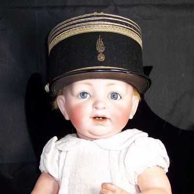 Antique miniature French salesman sample or French soldier doll hat
