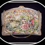 Vintage early 1900's Vienna Austria  tapestry purse Elsa Achermann
