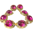 Vintage Hot Pink major bling chunky bracelet earrings Linda Caricofe collection