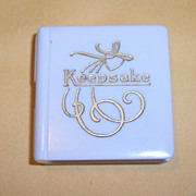 Rare Vintage Keepsake jewelry store display charms box figural book
