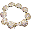 Vintage rhinestone jewelry major bling golden hues rhinestones bracelet