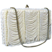 Vintage handbag beaded Walborg purse faux pearl swags