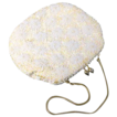 Vintage luxury hand beaded Regale handbag purse sweet cream delight