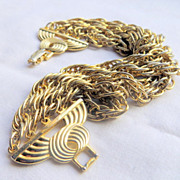 Vintage multi chains bracelet has the luxury jewelry look