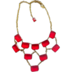 Early 1900's vintage Red Glass Festoon Necklace Linda Caricofe Collection
