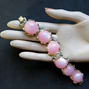 Vintage 1950's jewelry bubblegum cabochons chunky bracelet