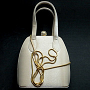 Vintage handbag purse luxury top handle chain shoulder strap huge rhinestone ball