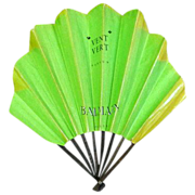 Rare vintage 1940's Balmain Paris French perfume advertising hand fan