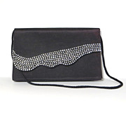 Vintage luxury rhinestones purse handbag clutch to shoulder strap style