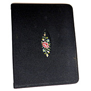 Vintage luxury ladies petit point desk address gift book never used