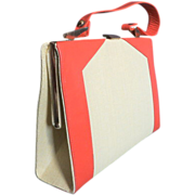 Vintage Retro 1960's Mar Shel handbag purse luxury lining color block style