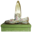 Vintage luxury ballet flats brocade Daniel Green size 6 to 8 1/2