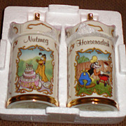 Walt Disney Lenox Spice Jars Nutmeg & Horseradish Pluto & Goofy