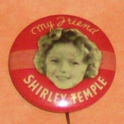 My Friend Shirley Temple Portrait Button