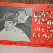 SOLD Original Beatles Memorabilia: Beatlemania Hits The Big Wigs Book